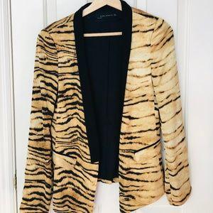 ZARA basic leopard print blazer(new without tag)